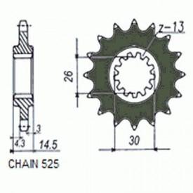 SUNSTAR ZĘBATKA NAPĘDOWA SUNF410-15