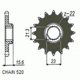 ZĘBATKA NAPĘDOWA SUNSTAR SUNF372-14 (JTF577-14)