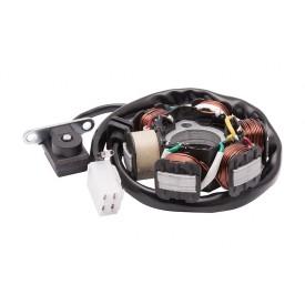 Iskrownik uniwersalny bez koła magnesowego do motoroweru 50cc 4T: 6 cewek, 5 przewodów