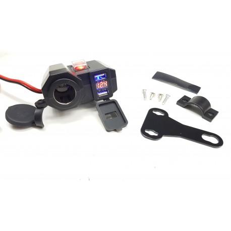 Gniazdo zapalniczki na kierownicę do motocykla USB