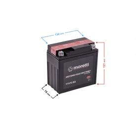 Akumulator kwasowo-ołowiowy MTX7E-BS (odpowiednik 12N7-3B-BS) Moretti