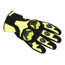 Rękawice motocyklowe Draft M-1651 czarno-neonowe rozmiar S