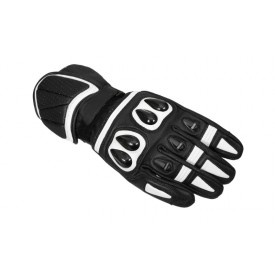 Rękawice motocyklowe Sporty M-1648 Czarno-Białe S