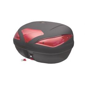 Kufer Moretti, MR-709, 43l, Czarny, czerwony odblask