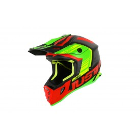 Kask JUST1 J38 BLADE Red-Lime-Black XL