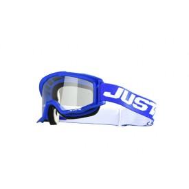 Gogle motocyklowe Just1 Vitro niebiesko-białe