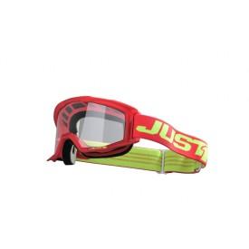 Gogle motocyklowe Just1 Vitro czerwono-żółte (fluorescencyjny)