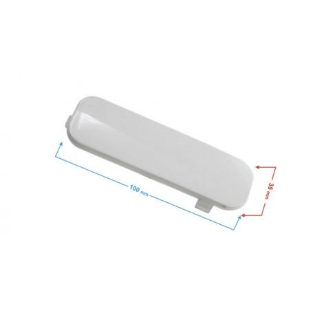 Dekor obudowy amortyzatora, lewy do skutera E-Max biały
