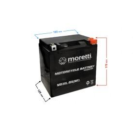 Akumulator AGM MB30L-BS 12V 30Ah Moretti
