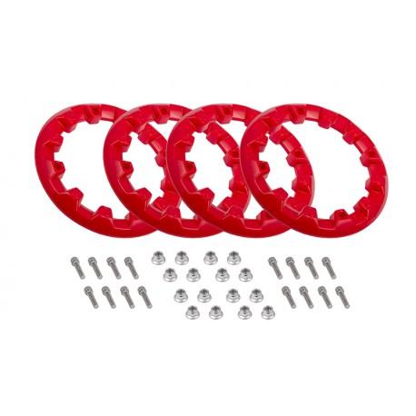 Zestaw 4 plastikowych nakładek na felgę 8'' (kołpaki), czerwone do ATV125-9 i ATV125-X