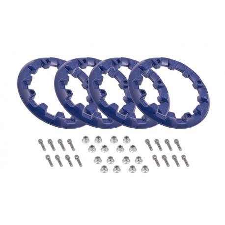 Zestaw 4 plastikowych nakładek na felgę 8'' (kołpaki), niebieskie do ATV125-9 i ATV125-X