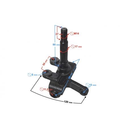 Zwrotnica prawa na koło 7'' z mocowaniem na zacisk do ATV125-9 i ATV125-X