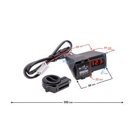 Gniazdo ładowarka USB 5V 3,1A na kierownicę motocykla