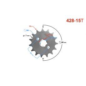 Zębatka 428-15 do motoroweru (z otworami)