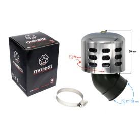 Filtr powietrza stożkowy srebrny, średnica 38 mm