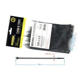 Opaska zaciskowa BOSMA 2,5*120 mm BLACK (100 pcs)