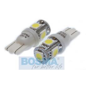 Żarówka BOSMA 12V 4*LED SMD5050 T10 WHITE 6000K BLISTER