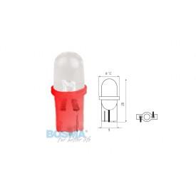 Żarówka BOSMA 12V 1*LED STANDARD T10 RED BLISTER