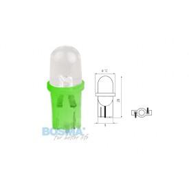 Żarówka BOSMA 12V 1*LED STANDARD T10 GREEN MAT BLISTER