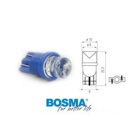 Żarówka BOSMA 12V 1*LED STANDARD T10 BLUE WIDE VIEWING BLISTER