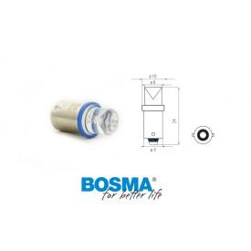 Żarówka BOSMA 12V 1*LED STANDARD BA9s BLUE WIDE VIEWING BLISTER
