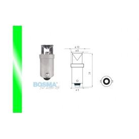 Żarówka BOSMA 12V 1*LED STANDARD BA9s GREEN WIDE VIEWING BLISTER