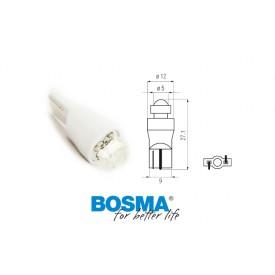 Żarówka BOSMA 12V 1*LED STANDARD T10 WHITE 6000K DIAMOND BLISTER
