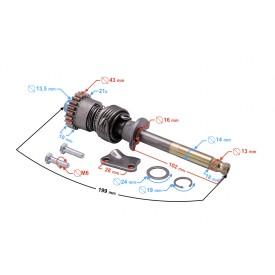 Wałek rozrusznika nożnego do motoroweru 130cc 4T