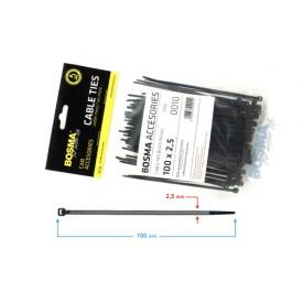 Opaska zaciskowa BOSMA 2,5*100 mm BLACK (100 pcs)