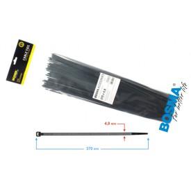 Opaska zaciskowa BOSMA 4,8*370 mm black (100 pcs)