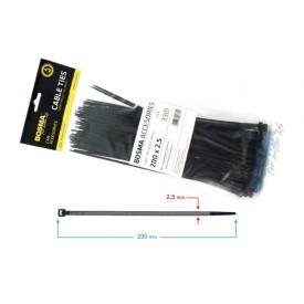 Opaska zaciskowa BOSMA 2,5*200 mm Black (100 pcs)