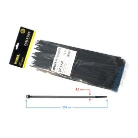 Opaska zaciskowa BOSMA 4,8*250 mm black (100 pcs)