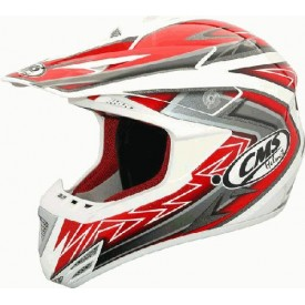 HEŁM CMS CROSS XR-7 EVO RED/WHITE M CMS000241