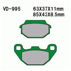 KLOCKI HAM. KYMCO P S8/ / AG CARRY / T S9/MX'ER150 RV150 VD995 / AG 2T KHT000995