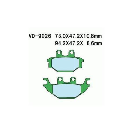 KLOCKI HAM. KYMCO KXR250 PRZÓD/MXU P+T VD9026 (POSTOJOWY MXU300) KHT009026