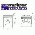 TŁOK METEOR VESPA P 125 K (52.70) PC1164020