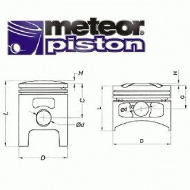TŁOK METEOR KTM SX 65 2009 45,00 SEL.C PC2047C