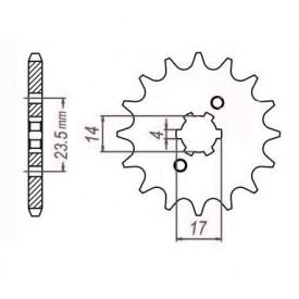 SUNSTAR ZĘBATKA NAPĘDOWA SUNF124-11 (JTF1128-11)