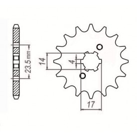SUNSTAR ZĘBATKA NAPĘDOWA SUNF124-13 (JTF1128-13)