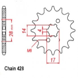 SUNSTAR ZĘBATKA NAPĘDOWA SUNF225-13