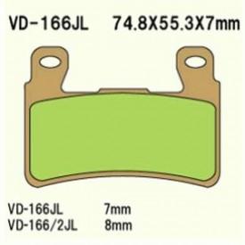 KLOCKI HAMULCOWE VESRAH VD-166/2RJL (FA265)