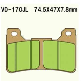 KLOCKI HAMULCOWE VESRAH VD-170RJL (FA390 MCB755)