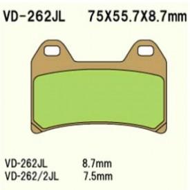 KLOCKI HAMULCOWE VESRAH VD-262JL
