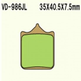 KLOCKI HAMULCOWE VESRAH VD-986JL (4 KL. W OP.)