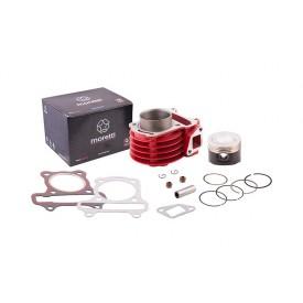Cylinder 80cc Moretti do skutera Huragan 5 z silnikiem poziomym / kolor czerwony