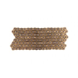 Łańcuch napędu Moretti 428H-130 (bez o-ring), złoty, do motoroweru