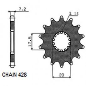 SUNSTAR ZĘBATKA NAPĘDOWA SUNF226-20 (JTF558.20)